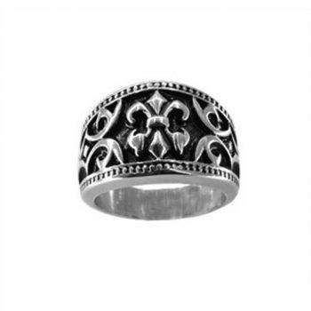 Δαχτυλίδι Ατσάλινο Αντρικό Λευκό ΔΟ55050