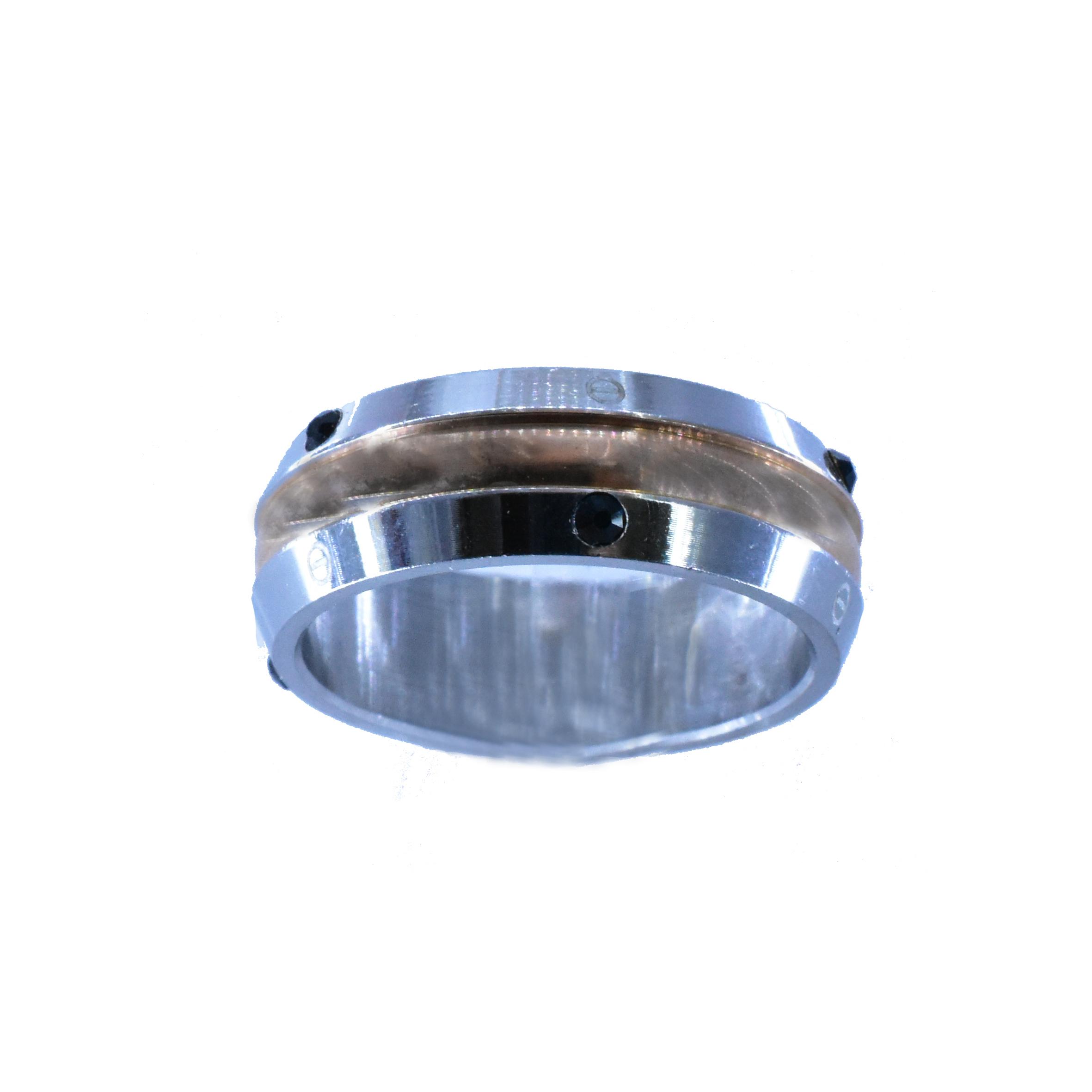 Δαχτυλίδι Ατσάλινο Λευκό Με Μαύρα Ζιργκόν ΔΟ55010 853804c55a9
