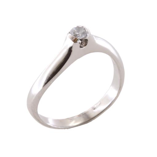 Δαχτυλίδι Μονόπετρο Λευκόχρυσο Κ18 Με Μπριγιάν 0.12ct ΔΟ70012 09e65c60d49