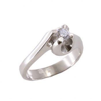 Δαχτυλίδι Μονόπετρο Λευκόχρυσο Κ18 Με Μπριγιάν 0.30ct ΔΟ70060