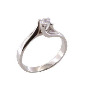 Δαχτυλίδι Μονόπετρο Λευκόχρυσο Κ18 Με Μπριγιάν 0.30ct ΔΟ70065