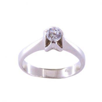 Δαχτυλίδι Μονόπετρο Λευκόχρυσο Κ18 Με Μπριγιάν 0.40ct ΔΟ70080