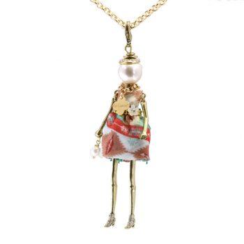 Κολιέ Le Carose Επίχρυση Κούκλα Με Πέρλα ΚΟ90105