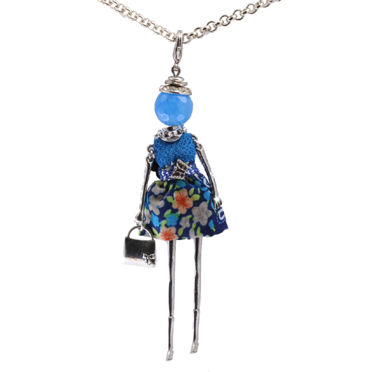 Κολιέ Le Carose Κούκλα Μπλε ΚΟ90125