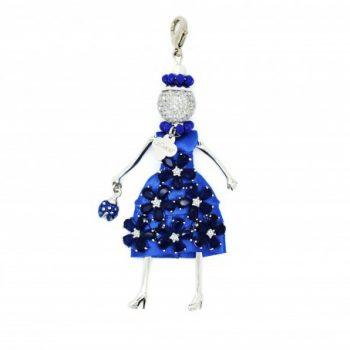 Κολιέ Le Carose Κούκλα Μπλε Με Ζιργκόν ΚΟ90005