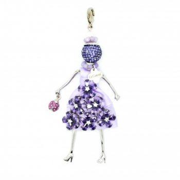 Κολιέ Le Carose Κούκλα Μωβ Με Ζιργκόν ΚΟ90025