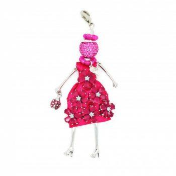 Κολιέ Le Carose Κούκλα Ροζ Με Ζιργκόν ΚΟ90000