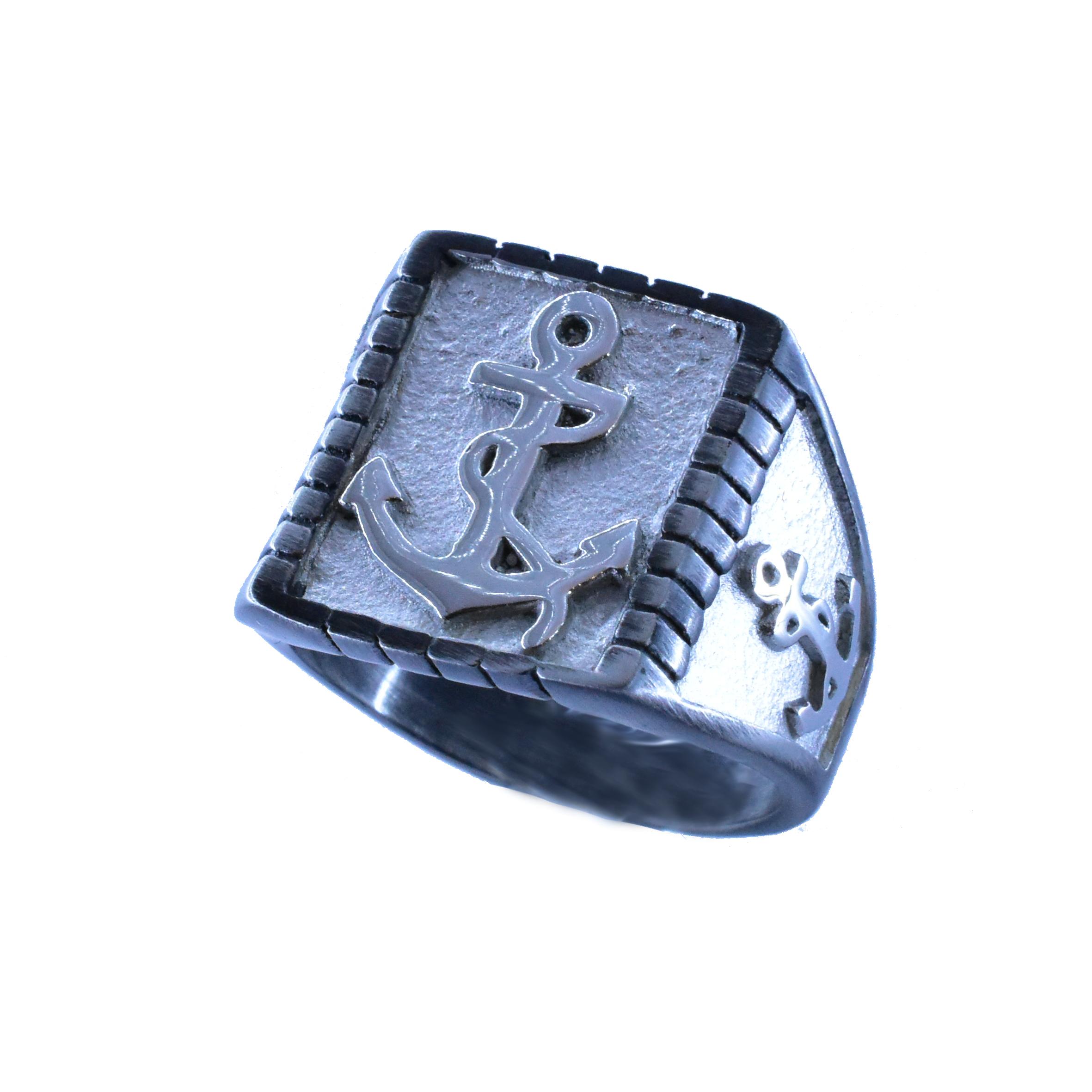 Δαχτυλίδι Ατσάλινο Με Άγκυρα ΔΟ55055