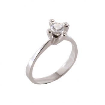 Δαχτυλίδι Μονόπετρο Λευκόχρυσο Κ18 Με Μπριγιάν 0.50ct ΔΟ70093