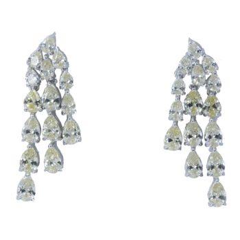 Σκουλαρίκια Ασημένια Επιπλατινωμένα Με Ζιργκόν ΣΚ40520