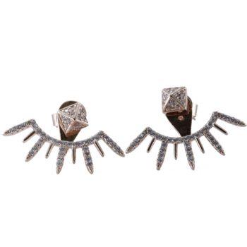 Σκουλαρίκια Ροζ Επιχρυσωμένα Με Ζιργκόν ΣΚ41005