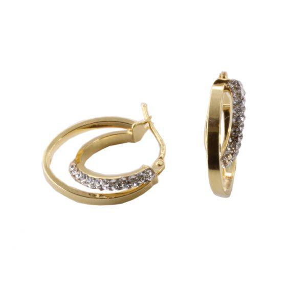 Σκουλαρίκια Χρυσά Κ14 Κρίκοι Με Ζιργκόν ΣΓ10003 59f52949c90