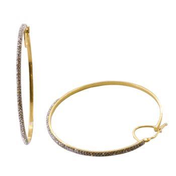 Σκουλαρίκια Χρυσά Κ14 Κρίκοι Με Ζιργκόν ΣΓ9005