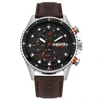 Superdry Mens Steel Officer Watch SYG220BR