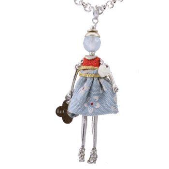 Κολιέ Le Carose Κούκλα Μικρή Επιπλατινωμένη ΚΟ90140