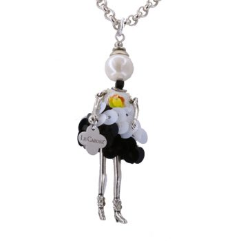 Κολιέ Le Carose Κούκλα Μικρή Επιπλατινωμένη ΚΟ90150