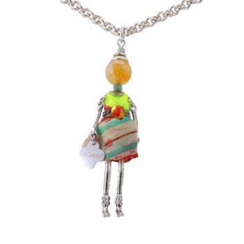 Κολιέ Le Carose Κούκλα Μικρή Επιπλατινωμένη ΚΟ90155