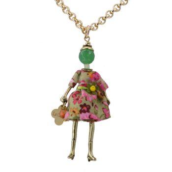 Κολιέ Le Carose Κούκλα Μικρή Επιχρυσή ΚΟ90160