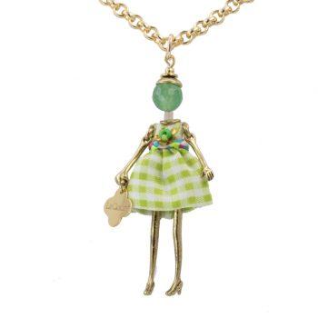 Κολιέ Le Carose Κούκλα Μικρή Επιχρυσή ΚΟ90165