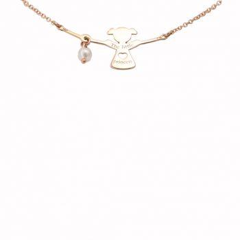 Κολιέ Κοριτσάκι Με Μαργαριτάρι Ροζ Χρυσό ΚΟ09360