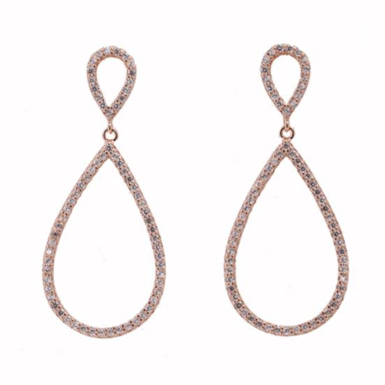 Σκουλαρίκια Ασημένια Ροζ Επιχρυσωμένα ΣΚ41115 - gEMELLi 756f5528a02