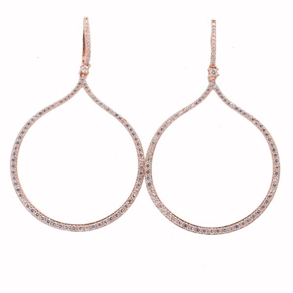 Σκουλαρίκια Ασημένια Ροζ Επιχρυσωμένα ΣΚ41120 - gEMELLi cbb07c86f79