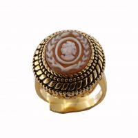 Δαχτυλίδι Cameo Italiano Ασημένιο Επιχρυσωμένο ΚΙ5535