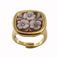 Δαχτυλίδι Cameo Italiano Ασημένιο Επιχρυσωμένο ΚΙ5540