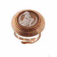 Δαχτυλίδι Cameo Italiano Ασημένιο Ροζ Επίχρυσο ΚΙ5560