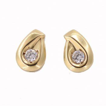 Σκουλαρίκια Χρυσά Κ14 Με Ζιργκόν ΣΓ10040