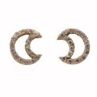Σκουλαρίκια Χρυσά Κ14 Φεγγάρια ΣΚ09840