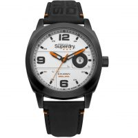 Superdry Corporal Black Leather Strap SYG236BB