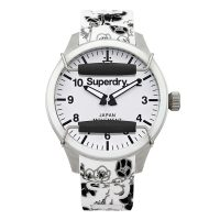Superdry Ladies Black Floral Scuba SYL138B
