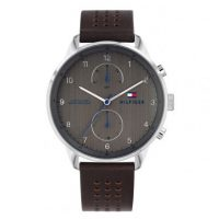 Tommy Hilfiger Chase Brown Leather Strap 1791579