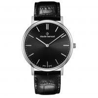 Claude Bernard Classic Black Leather Strap 202143NIN