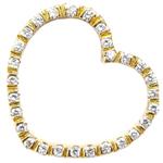 gemelli Κοσμήματα - Χρυσή Καρδιά Με Μπριγιάν