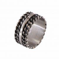 Δαχτυλίδι Αντρικό Ατσάλινο ΔΟ54050