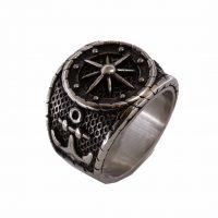 Δαχτυλίδι Αντρικό Ατσάλινο Με Σχέδιο Αστέρι Του Βορρά ΔΟ54105
