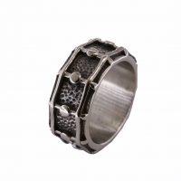 Δαχτυλίδι Αντρικό Ατσάλινο Σε Σχήμα Τύμπανου ΔΟ54070