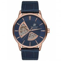 Beverly Hills Polo Club Gents Automatic Blue Leather Strap BH9624-01
