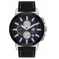 Beverly Hills Polo Club Gents Black Leather Strap BH9581