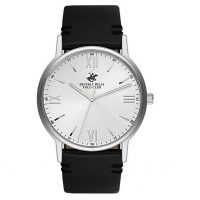 Beverly Hills Polo Club Gents Black Leather Strap BH9678-01