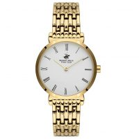 Beverly Hills Polo Club Ladies Gold Stainless Steel Bracelet BH9666-03