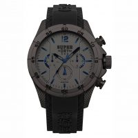 Superdry Adventurer Dual Time Black Silicone Strap SYG257BB