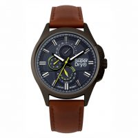 Superdry Marshal Brown Leather Strap SYG258BRB