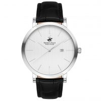 Beverly Hills Polo Club Gents Black Leather Strap BH9647