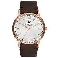 Beverly Hills Polo Club Gents Brown Leather Strap BH9678