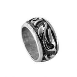 Δαχτυλίδι Ατσάλινο Αντρικό Λευκό ΔΟ55045