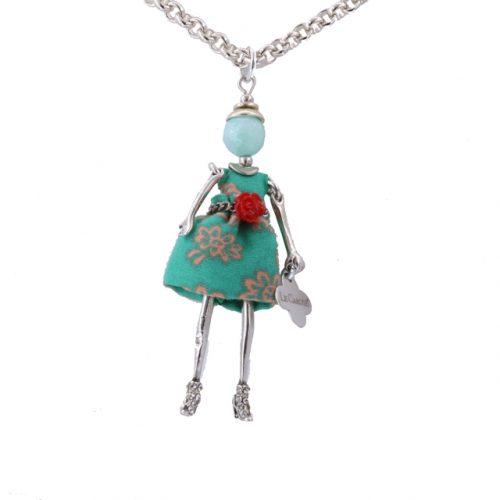 Κολιέ Le Carose Κούκλα Μικρή Επιπλατινωμένη ΚΟ90145